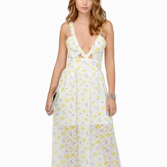 Tobi Dresses Flower Power Yellow White Floral Maxi Dress Poshmark